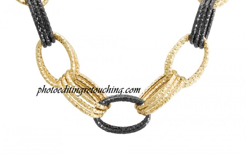 bracelet gold retouched