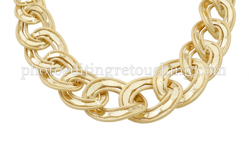 photoshop gold necklace retouch