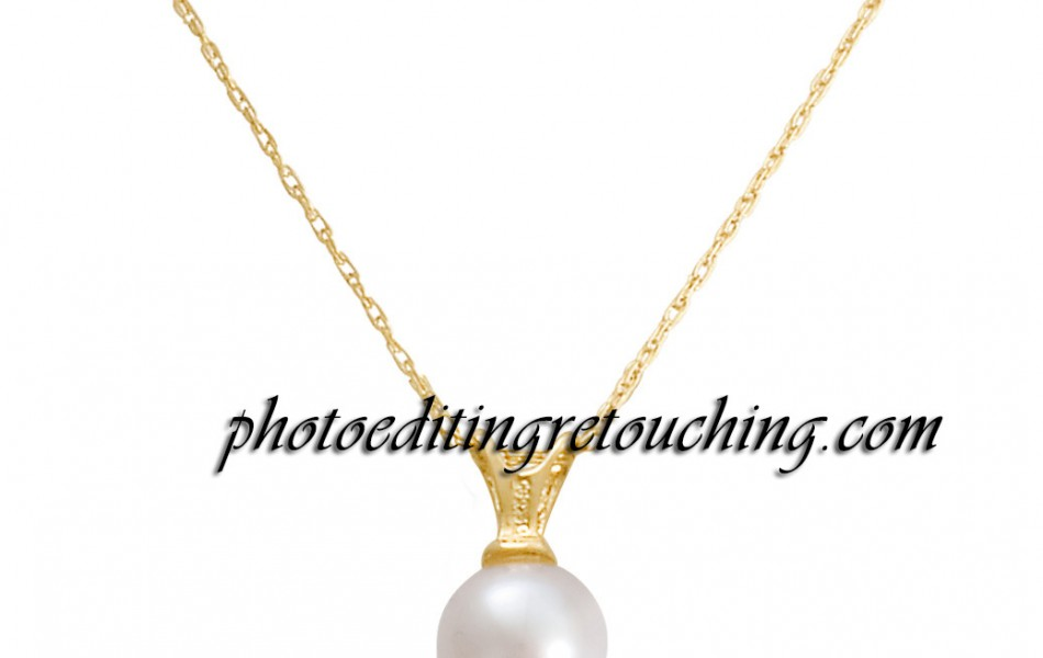 gold necklace photoshop retouch