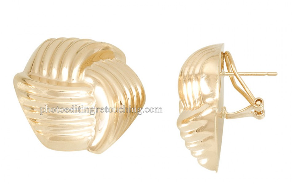 photoshop gold earring retouch