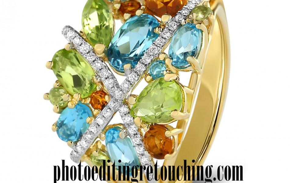 diamond gemstones retouch