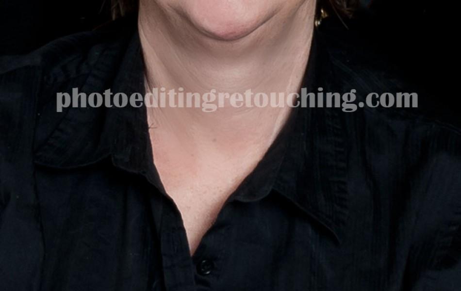 lady retouching face